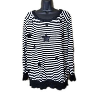 Stars and Striped Torrid Sweater Size 3